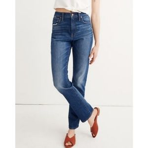 Madewell Blue High-Rise Slim Boy Jean Size 25 EUC
